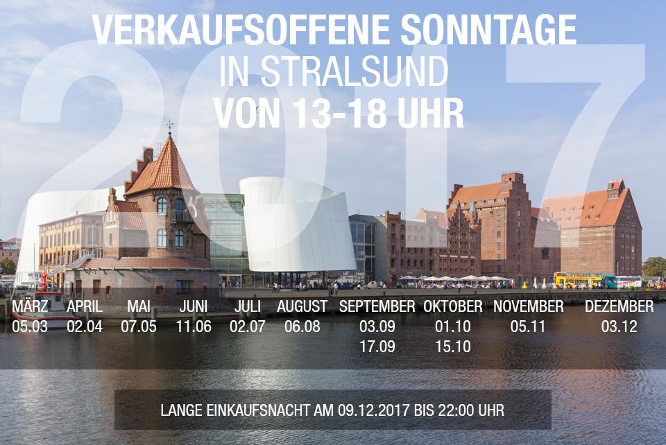 Stralsund lädt ein zu den Verkaufsoffenen Sonntagen